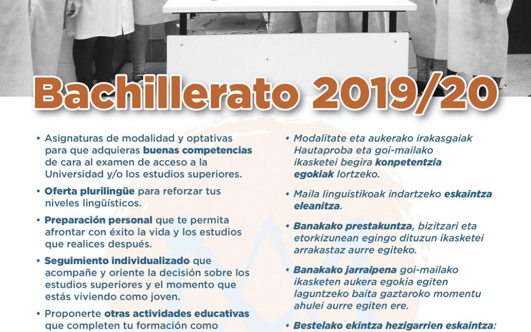 Admisión Bachillerato: será del 2 al 14 de mayo