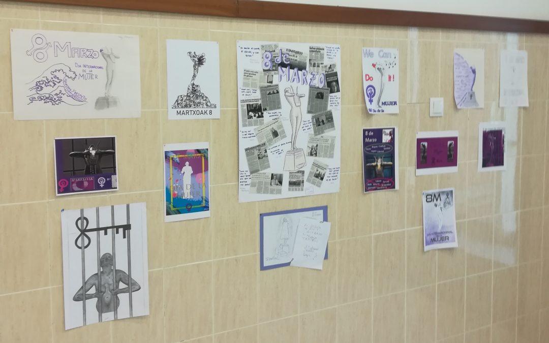 Concurso de carteles «8 de marzo» en Dibujo Técnico II