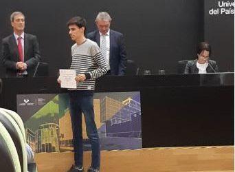 Pablo García Díaz, premio al mejor expediente de 1º Ingeniería Civil