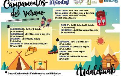Colonias urbanas y campamentos del Movimiento Calasanz del 22 de junio al 26 julio