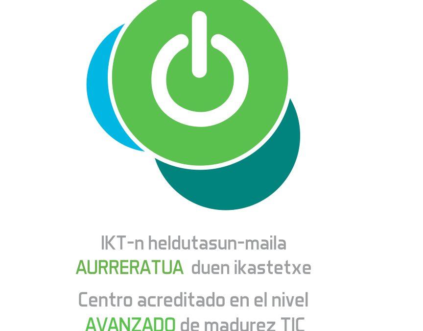 Estamos de enhorabuena, somos un centro acreditado de «Madurez Tecnológica Avanzada».